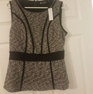 New York and Company peplum top large nwt
